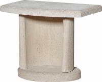 Боковой столик для барбекю Buschbeck Bside 2 (белый) -