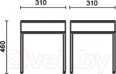 Табурет Nowy Styl Tutti Chrome (EV-02) - размеры