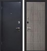 Входная дверь МеталЮр М24 Черный бархат/грей (86x205, левая) -