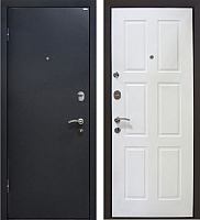 Входная дверь МеталЮр М21 Черный бархат/белый (86x205, левая) -