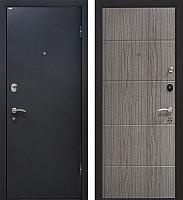 Входная дверь МеталЮр М24 Черный бархат/грей (96x205, правая) -
