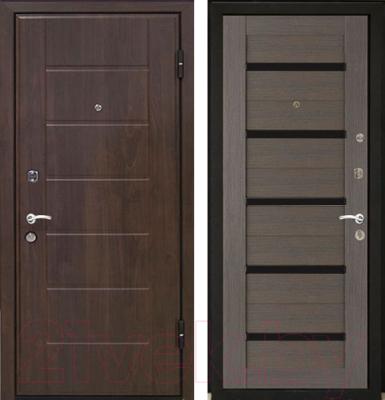 Входная дверь МеталЮр М7 Грей мелинга/белое стекло (96x206, правая)