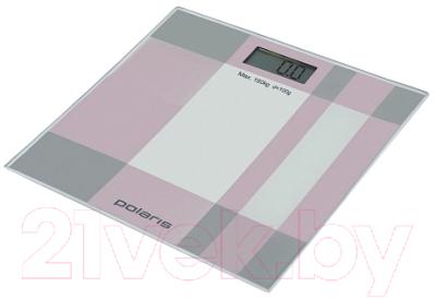 Напольные весы электронные Polaris PWS1849DG (серый/розовый)