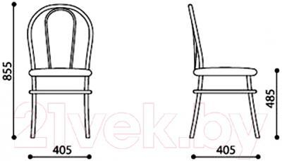 Стул Nowy Styl Florino Chrome (V-14) - размеры