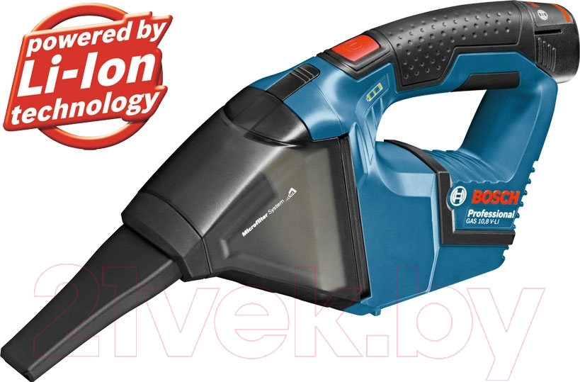 Купить Портативный пылесос Bosch, GAS 10.8 V-LI (0.601.9E3.020), Китай