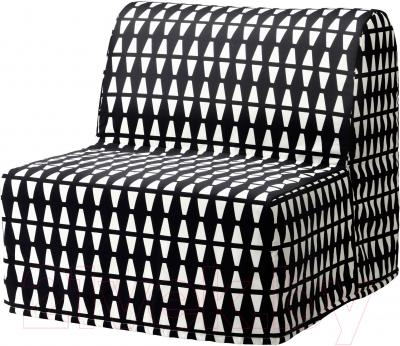 Ikea ликселе 20324579 черныйбелый чехол на кресло кровать