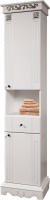 Шкаф-пенал для ванной Bliss Амелия-1 2Д1Я / 0455.5 (серебристый) -