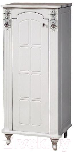Купить Шкаф-полупенал для ванной Bliss, Версаль 1Д / 0454.2 (патина серебро), Беларусь