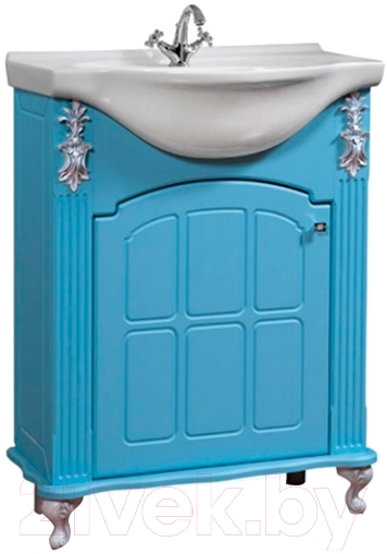 Купить Тумба под умывальник Bliss, Версаль 650 / 0454.5 (голубой), Беларусь