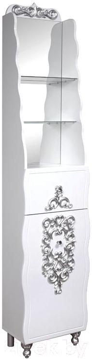 Купить Шкаф-пенал для ванной Bliss, Искушение 1Д1Я / 0459.10 (патина серебро), Беларусь