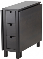 Стол-книга Ikea Норден 602.522.45 (коричнево-черный) -