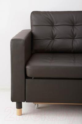 Диван Ikea Ландскруна 191.669.86 (темно-коричневый/дерево)