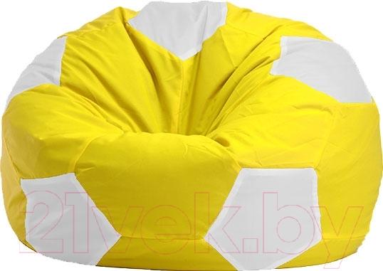 Купить Бескаркасное кресло Flagman, Мяч Стандарт М1.1-08 (желтый/белый), Беларусь, оксфорд
