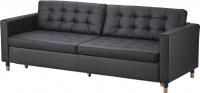 Диван Ikea Ландскруна 391.669.85 (черный/дерево) -