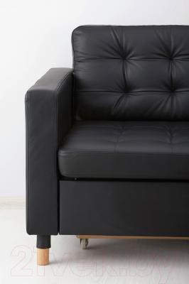 Диван Ikea Ландскруна 391.669.85 (черный/дерево)