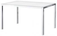 Обеденный стол Ikea Торсби 690.996.21 (белый глянцевый/хром) -