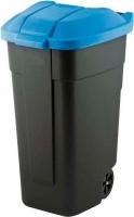 Контейнер для мусора Curver 12900-857-60 / 214127 (110л, черный/голубой) -