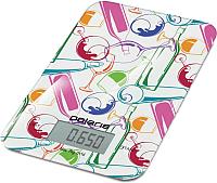 Кухонные весы Polaris PKS0741DG Italy (белый) -