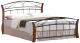 Двуспальная кровать Signal Atlanta 160x200 (античная черешня/черный) -