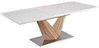 Обеденный стол Signal Alaras 160-220x90 (белый/дуб сонома) -