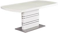 Обеденный стол Signal Gucci 140x85 (белый лак) -