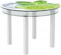 Обеденный стол Artglass Ringo Cristal Лайм (белый) -
