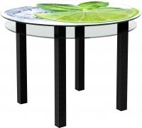 Обеденный стол Artglass Ringo Cristal Лайм (черный) -