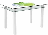 Обеденный стол Artglass Прима Лайм (белый) -