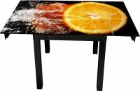 Обеденный стол Artglass Modus Апельсин (черный) -