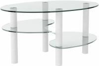 Журнальный столик Artglass Каскад (белый) -