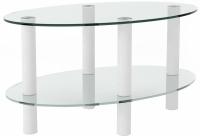 Журнальный столик Artglass Вальс (белый) -