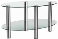 Журнальный столик Artglass Вальс (хром) -