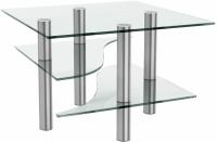 Журнальный столик Artglass Консул (хром) -
