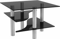 Журнальный столик Artglass Консул (серый/хром) -