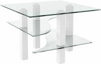 Журнальный столик Artglass Александр (белый) -