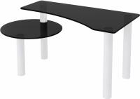 Журнальный столик Artglass Парус (серый/белый) -