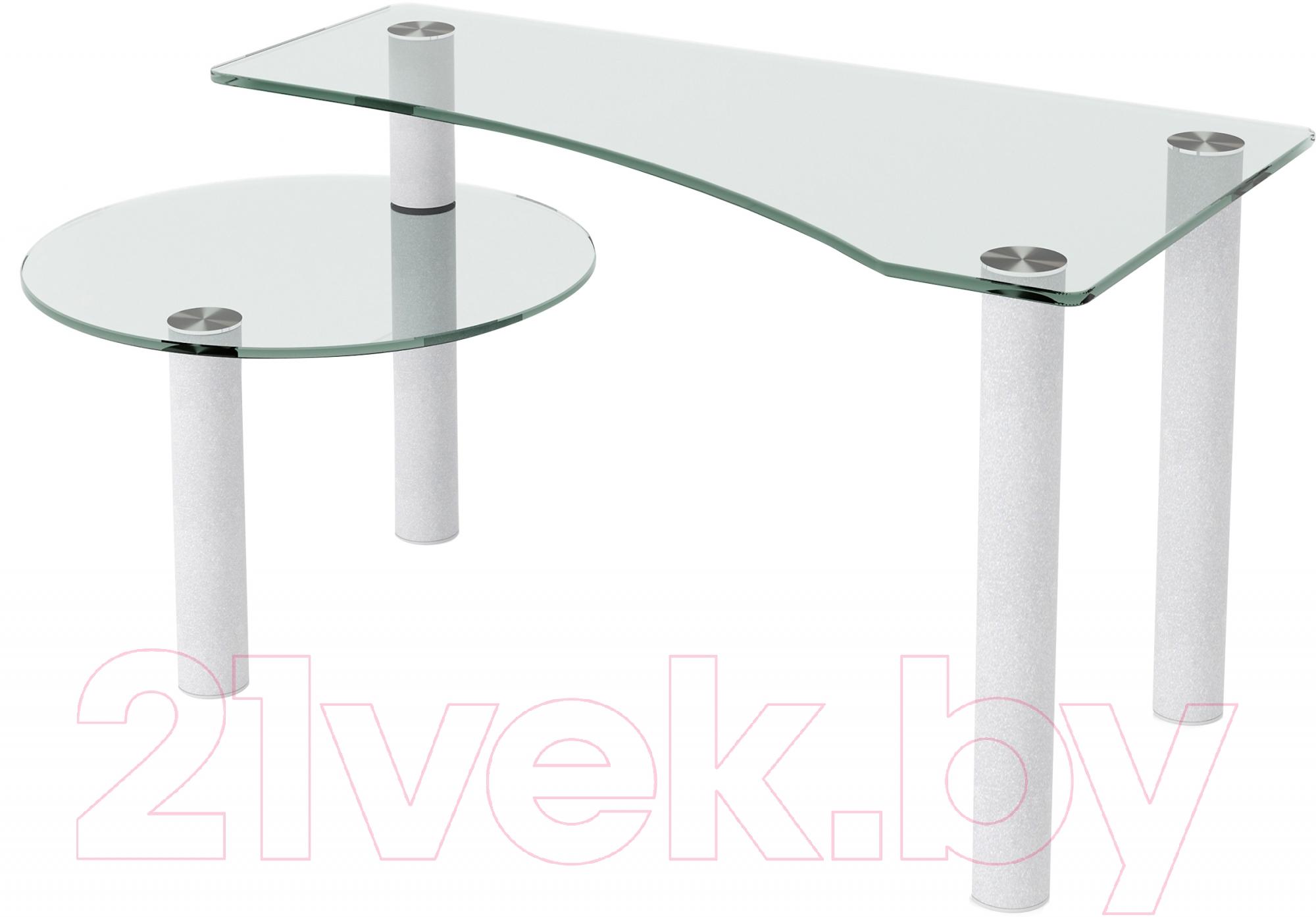 Купить Журнальный столик Artglass, Парус (белый), Беларусь