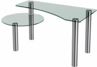 Журнальный столик Artglass Парус (хром) -
