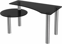 Журнальный столик Artglass Парус (серый/хром) -