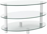 Журнальный столик Artglass Olivia (белый) -