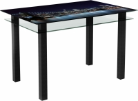 Обеденный стол Artglass Прима Ночной город (черный) -