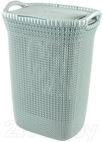 Купить Корзина для белья Curver, Knit 03676-X60-00 (синий), Польша, пластик