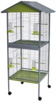 Клетка для птиц Voltrega 001446GP (серый/фисташковый) -