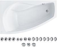 Ванна акриловая Santek Майорка XL 160x95 L Базовая Плюс (1WH112366) -
