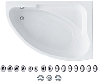 Ванна акриловая Santek Гоа 150x100 R Базовая Плюс (1WH112369) -