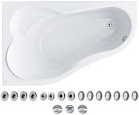 Ванна акриловая Santek Ибица 150x100 L Базовая Плюс (1WH112370) -