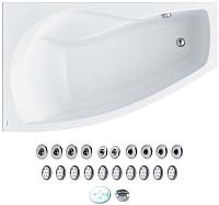 Ванна акриловая Santek Майорка 150x90 L Комфорт (1WH112384) -