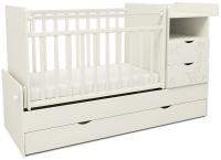 Детская кровать-трансформер СКВ 550031 (жираф, белый) -