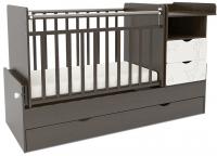 Детская кровать-трансформер СКВ 550038-1 (жираф, венге/белый) -