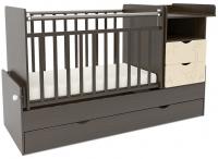 Детская кровать-трансформер СКВ 550038-9 (жираф, венге/бежевый) -